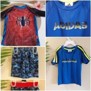 Adidas | boys sports BUNDLE 2 tops + shorts